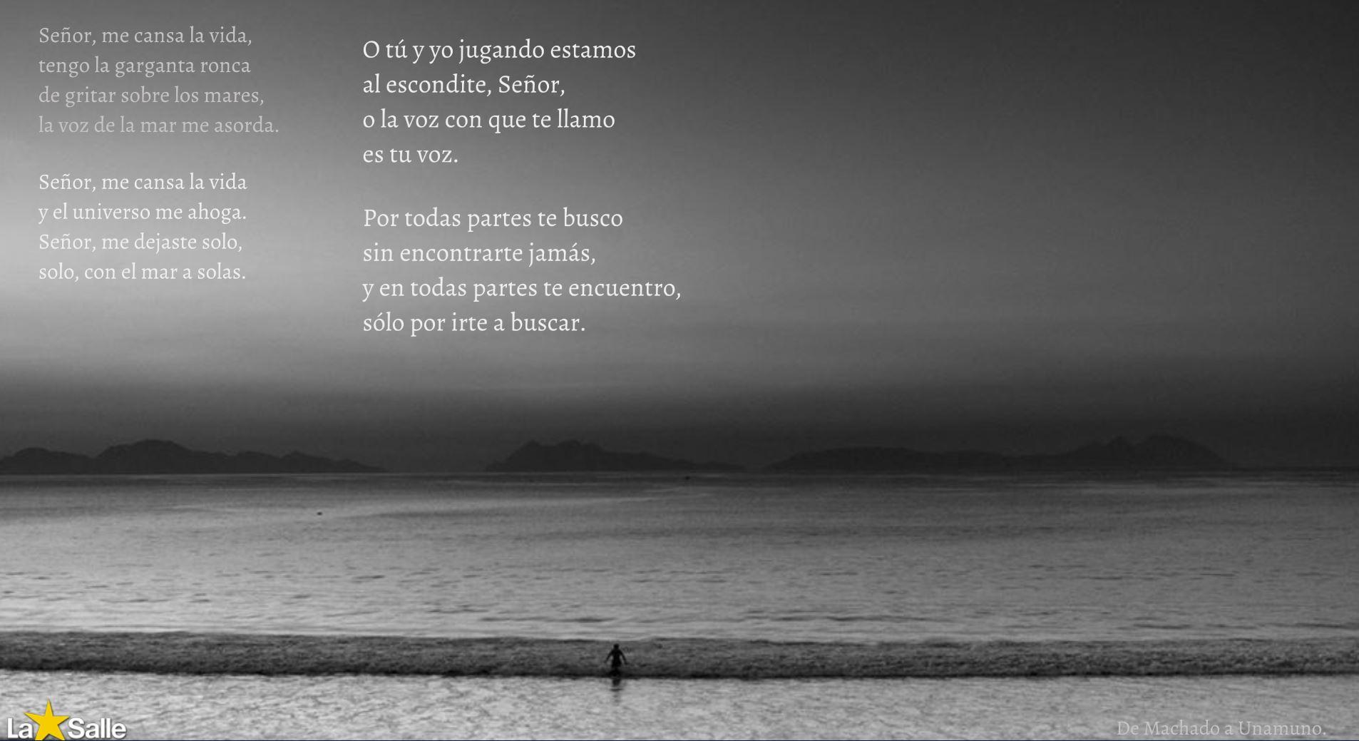 … o la voz con la que te llamo es tu voz (Machado).